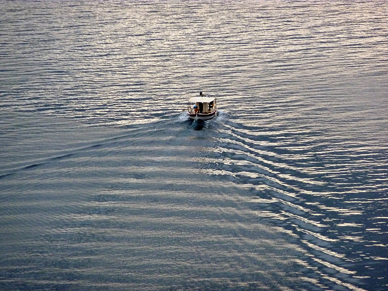 Fisherboat in evening sun